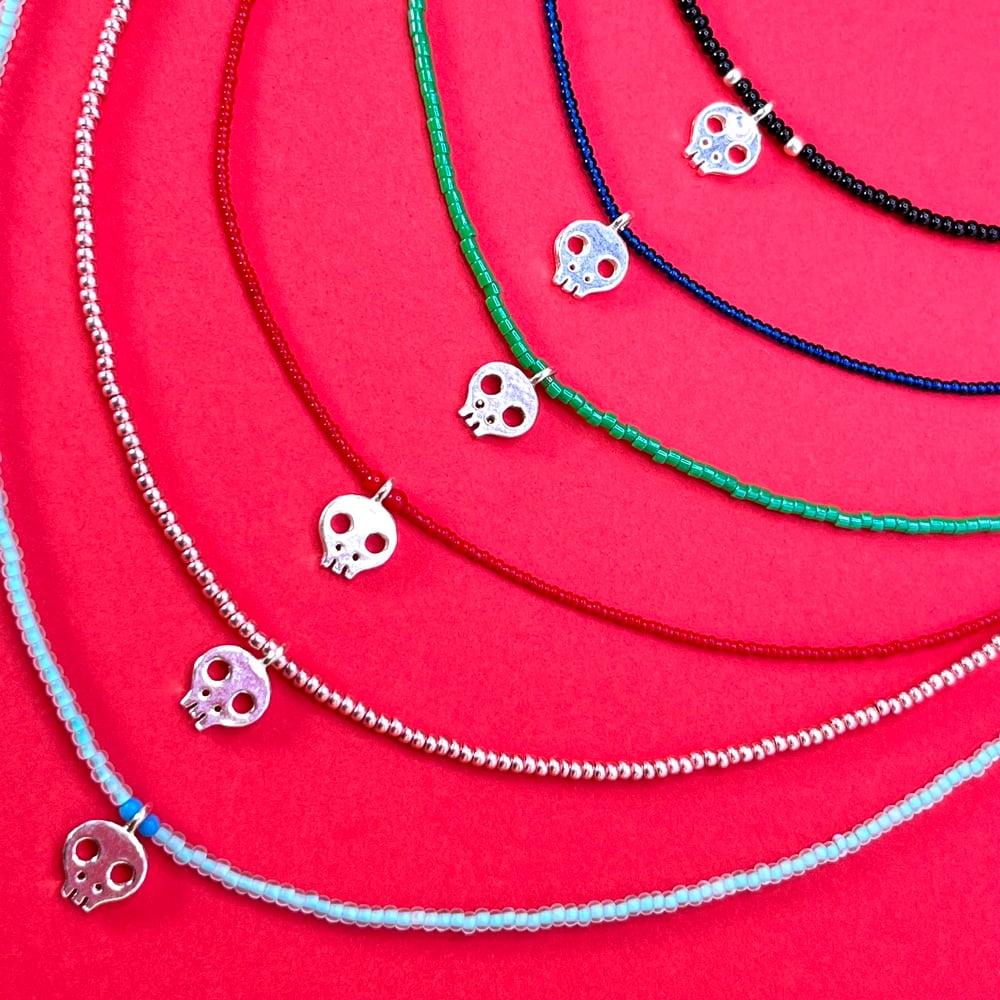Dia de los Muertos tiny skulls necklaces