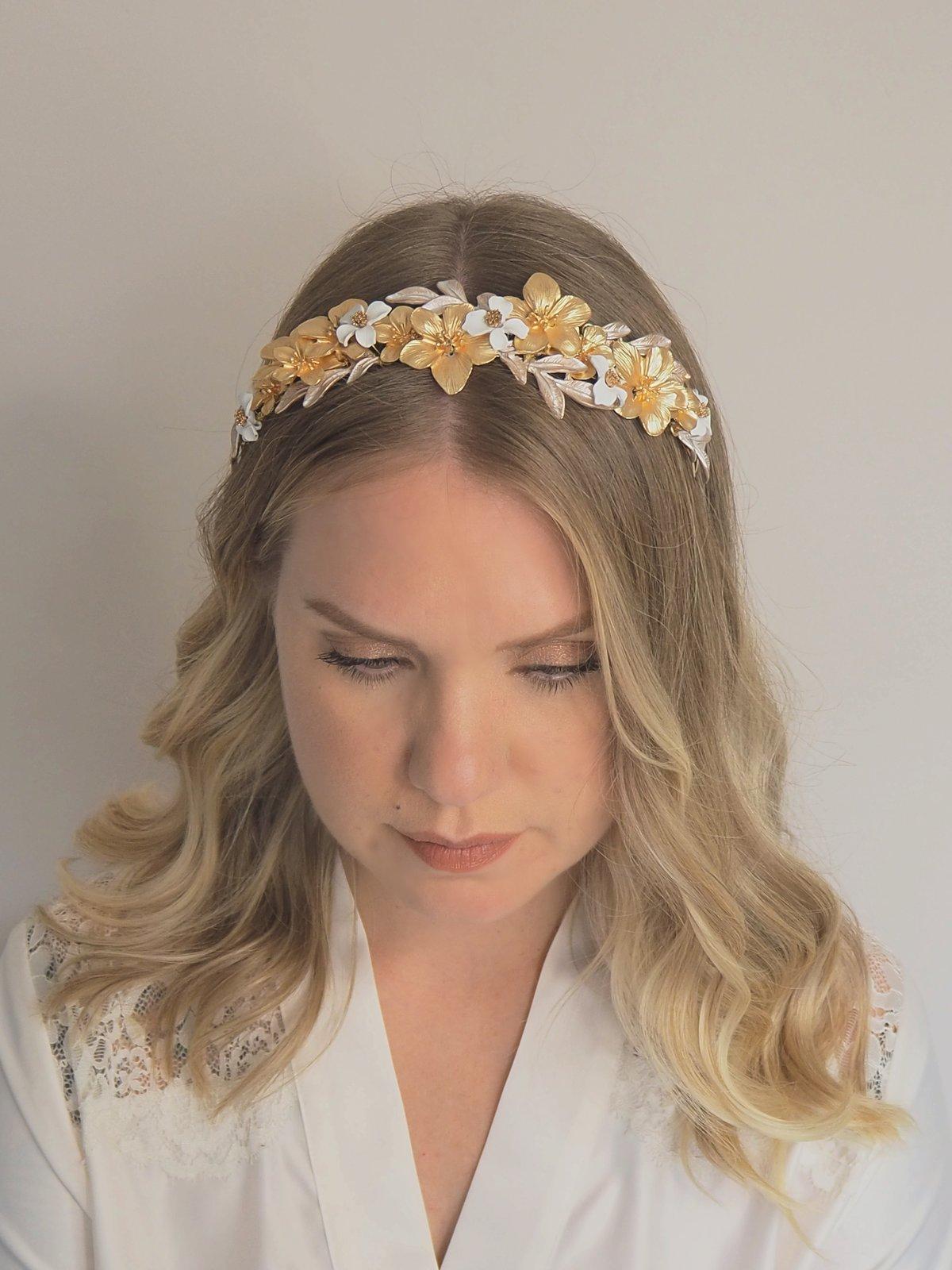 Fleur de Lune halo headband