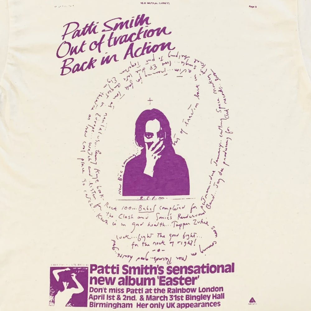 """Image of Patti Smith """"Back in Action"""" Tee"""