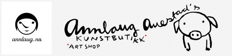 Annlaug Auestad´s art shop — Gullhorn, Bjøllekua og Konni (Norvegian