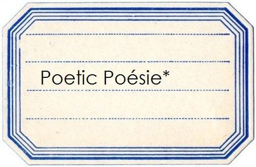Poetic Poésie*