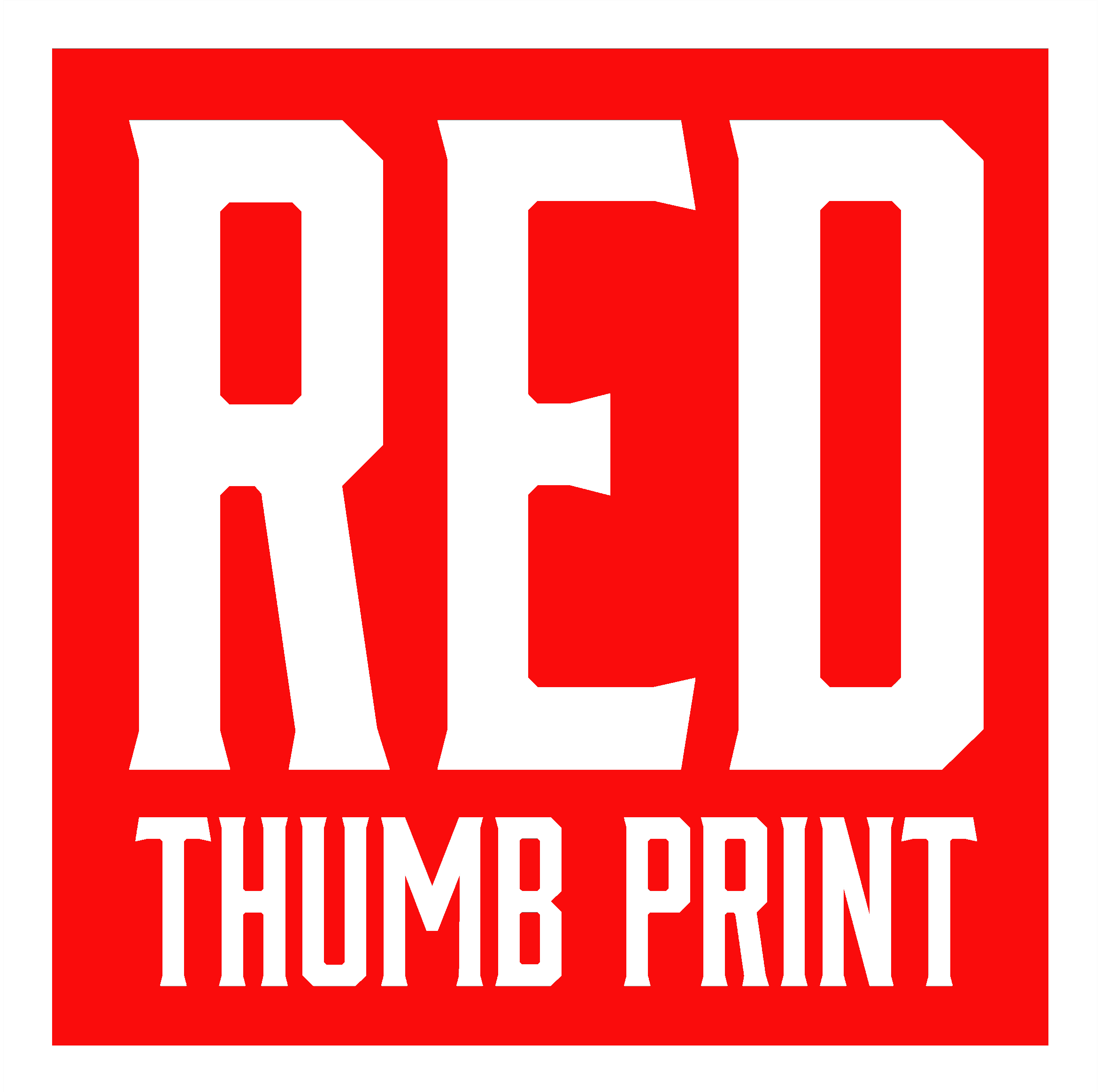 Red Thumb Print - Hand Made Furniture
