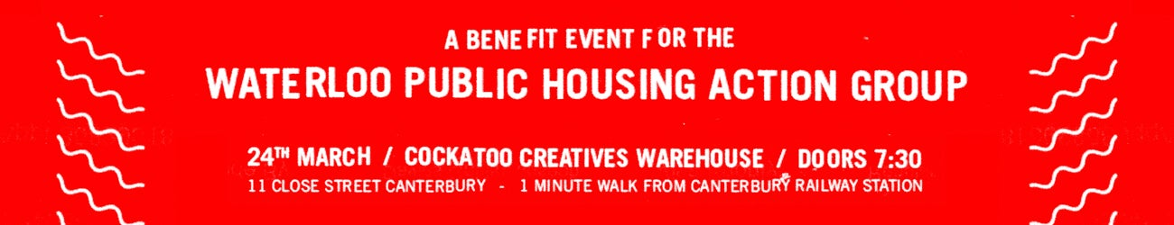 Waterloo Public Housing Action Group Benefit