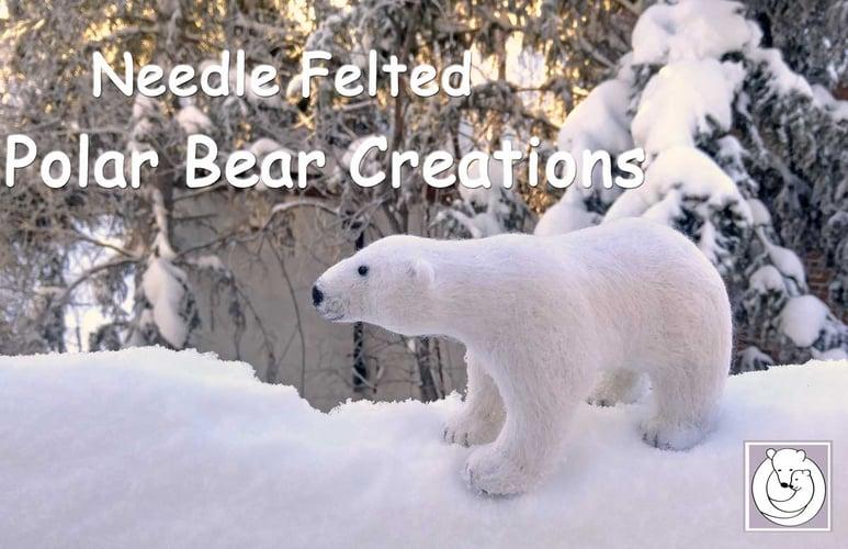 Felted Polar Bear Creation