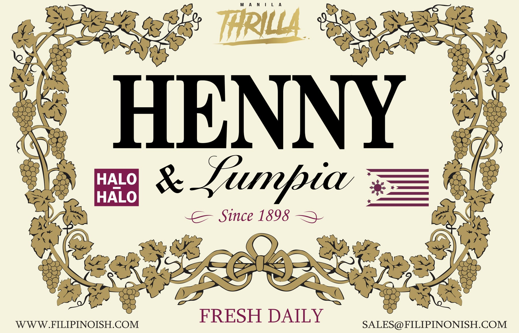 Filipino shirts - Culture apparel   clothing - Streetwear brand - Henny    Lumpia 4e31180709ec