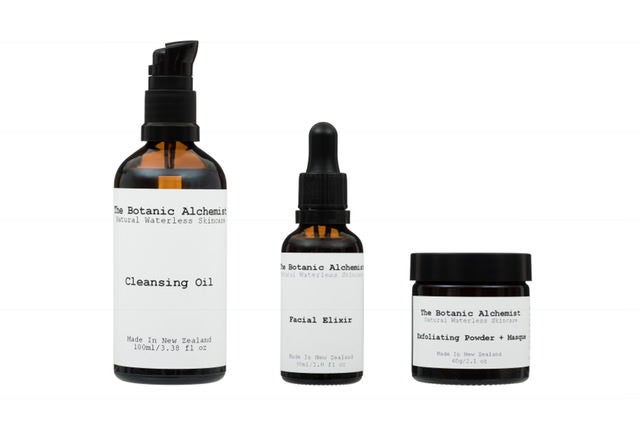 Product Collection Cleansing Oil Facial Elxir Exfoliationg Powder and Masque