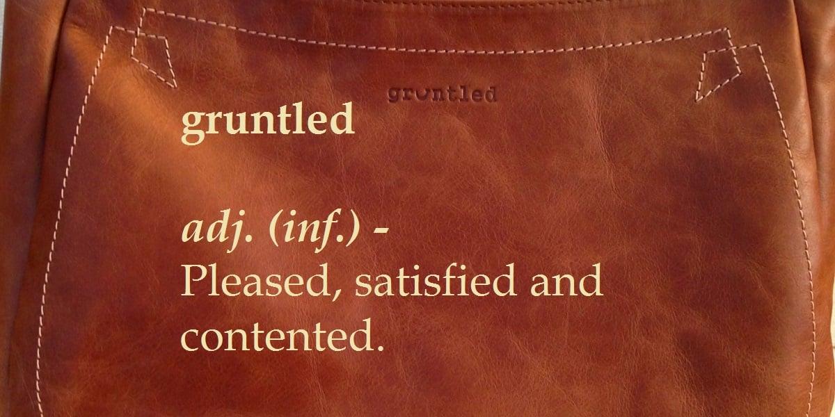 Define gruntled