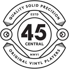 45 CENTRAL . Original Vinyl Adapters for playing 7